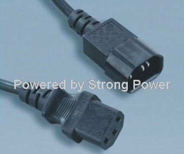 America_UL_power_cords_ST3_IEC_60320_C13_to_SZ3_IEC_60320_C14