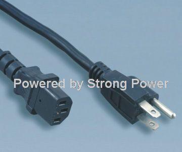America_UL_power cords_YY_3 to_ST3_IEC_60320_C13