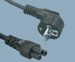 European VDE CEE EN50075 laptop power cord JT003 to ST1 C5