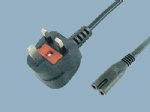 UK BS 1363 A Plug Y006A to IEC C7